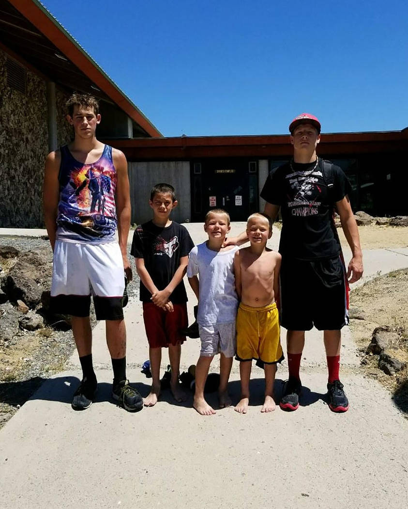 Penny Otteson/Special to the Pahrump Valley Times A total of 10 different kids attended recent wrestling camps in California, Missouri and Utah.