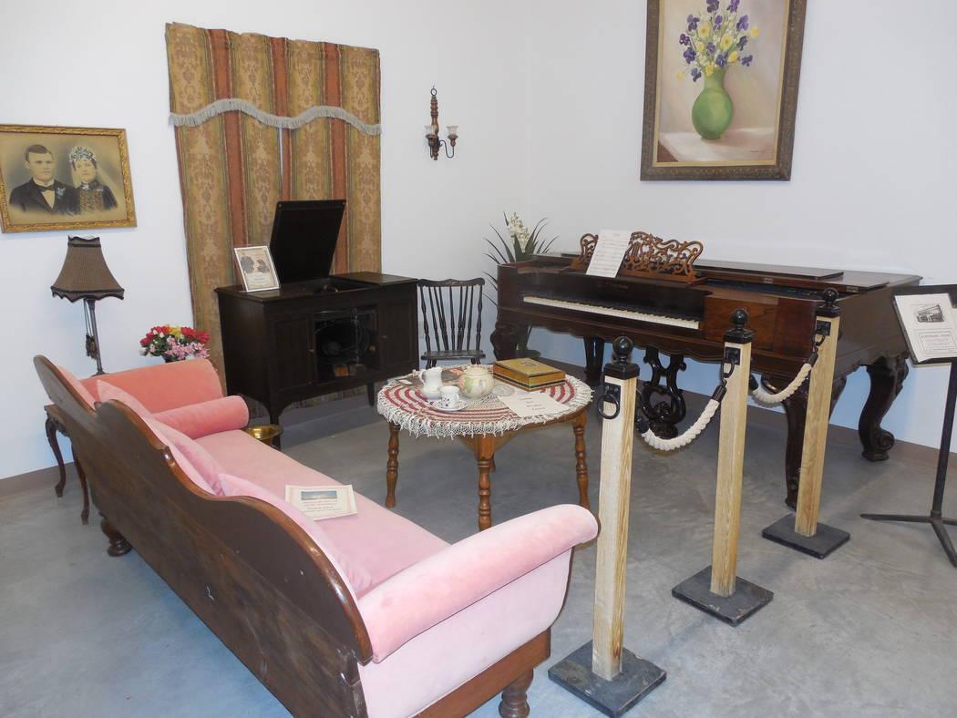 Pahrump Valley Museum/Courtesy photo Authentic circa-1920s parlor setup.