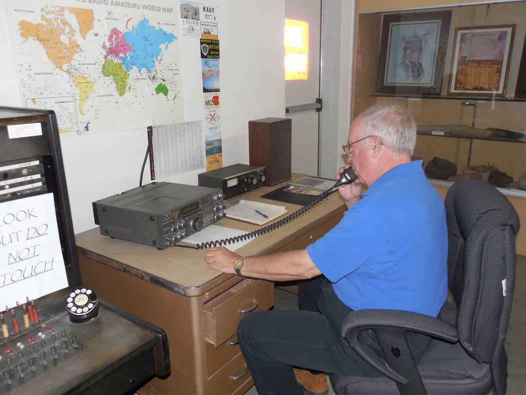 Pahrump Museum/Courtesy photo Working amateur radio station with Craig Bledsoe at the microphone.