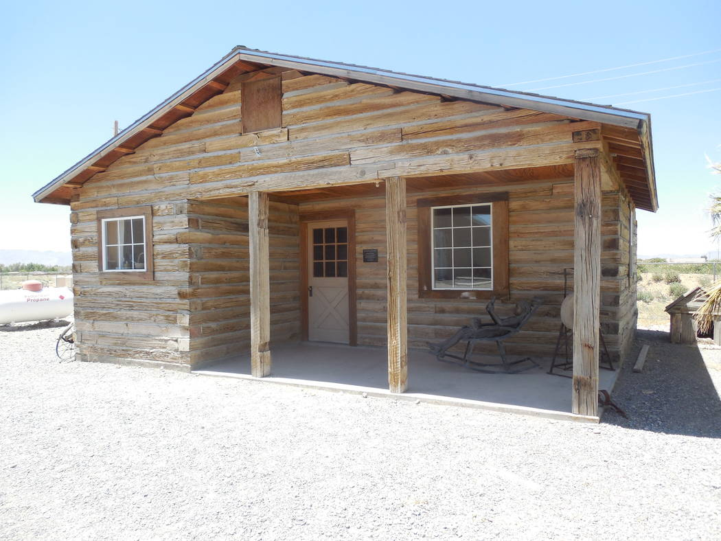 Pahrump Museum/Courtesy photo Reconstructed railroad tie home-one of two at museum.