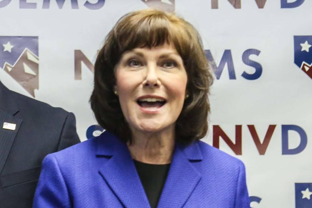 Elizabeth Brumley/Las Vegas Review-Journal U.S, Rep. Jacky Rosen, D-Nev., has announced she will run for the U.S. Senate in 2018, opposing Republican U.S. Sen. Dean Heller.