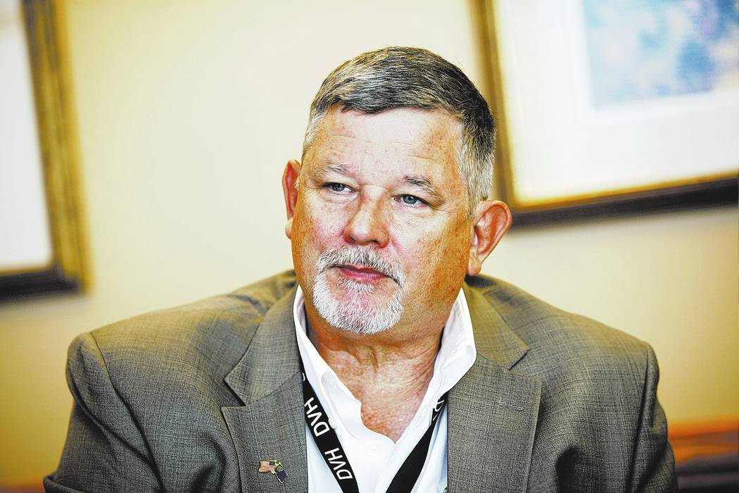 Rachel Aston/Las Vegas Review-Journal District 36 Assemblyman James Oscarson, R-Pahrump, said water, health care, education and gun rights will remain some of his top priorities. Oscarson said tho ...