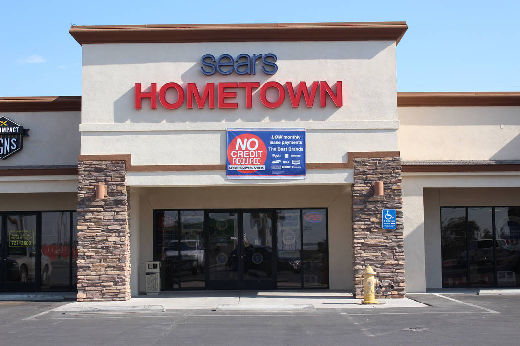 Jeffrey Meehan/Pahrump Valley Times Sears Hometown Store at 1360 E. Highway 372, Suite 4, on July 12, 2017. The Pahrump store is one of hundreds across the nation to be rebranded and welcome an ex ...