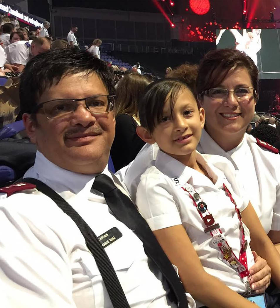 Special to the Pahrump Valley Times  Pahrump Salvation Army Majors Mario and Claudia Ruiz arrived from Arizona earlier this year. The couple, pictured with their youngest daughter Emily, joined th ...
