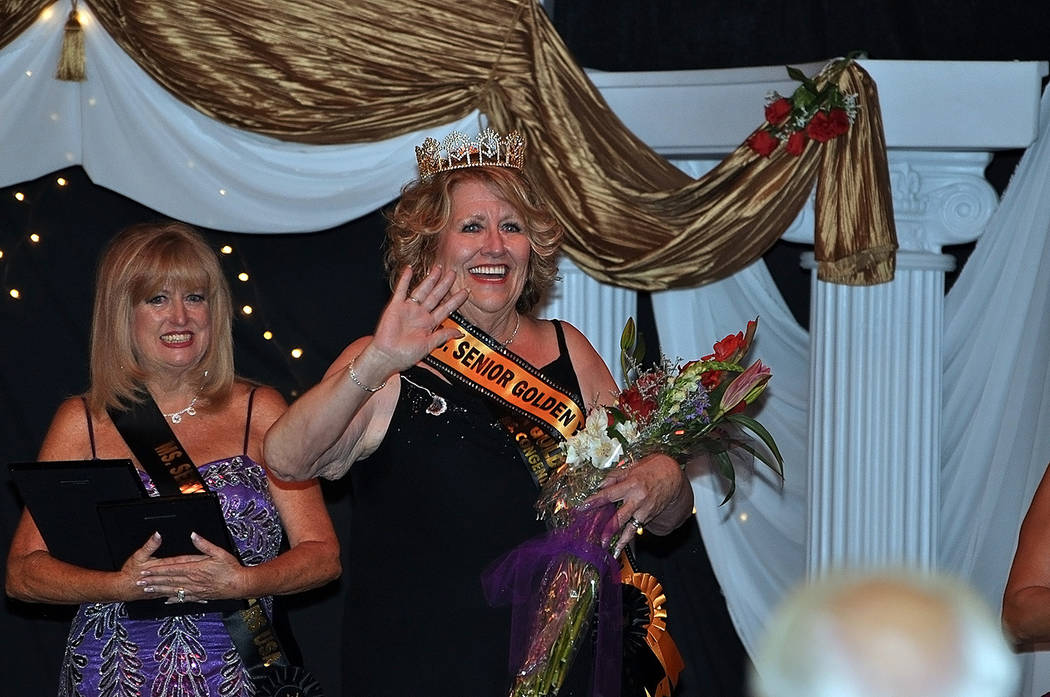 Horace Langford Jr./Pahrump Valley Times  Maryellen Swarowski was crowned Ms. Senior Golden Years USA 2017 during Saturday's pageant at the Saddle West Showroom. Contestants Virginia Kelly-Vigna ...