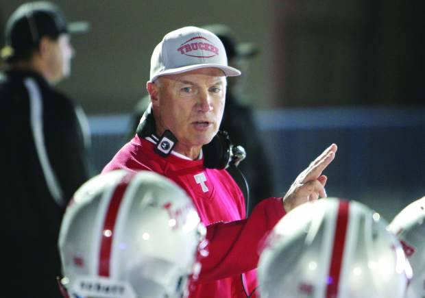 Courtesy Sierra Sun file photo Coach Robert Shaffer doing what he loved to do. Shaffer coached from 1995 and retired in 2013 finishing with an overall record of 170-32.