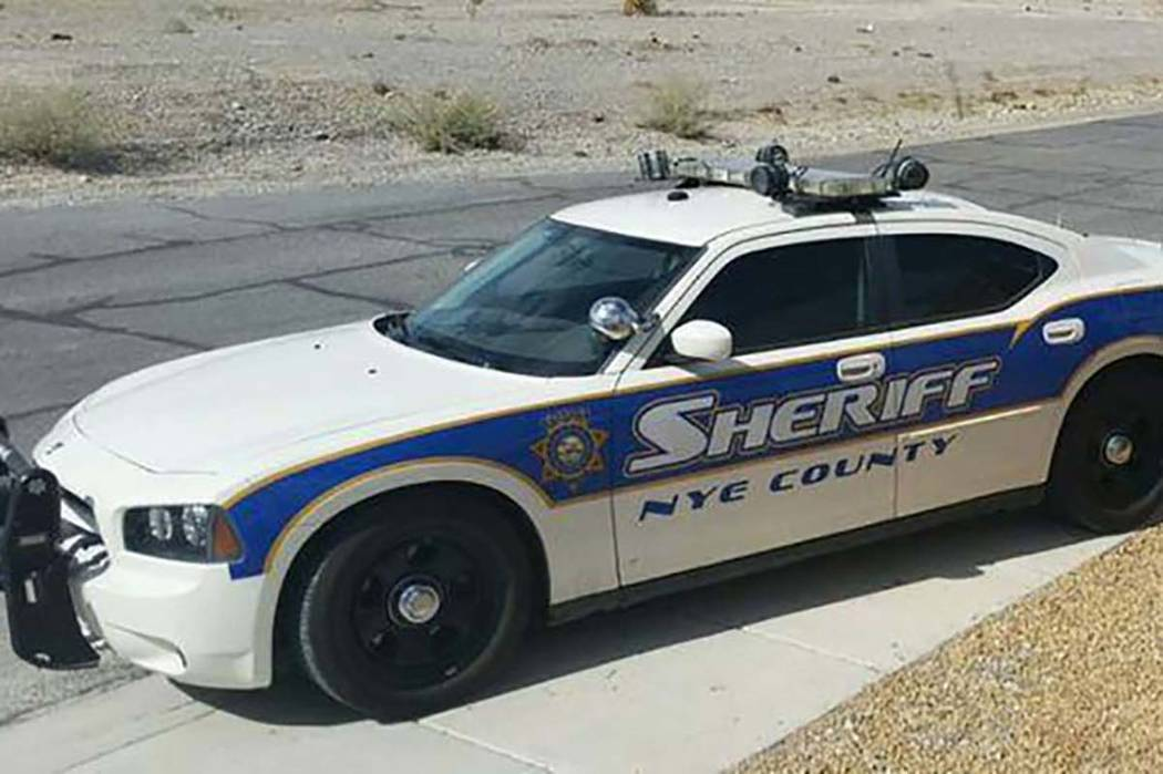 Las Vegas Review-Journal Nye County Sheriff's cruiser as shown in a file photo.