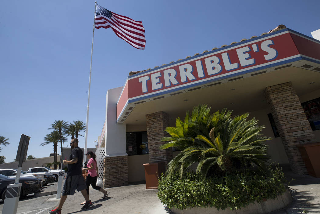 The Terrible Herbst gas station on West Russell Road and Polaris Avenue in Las Vegas on Sunday, July 2, 2017. Richard Brian Las Vegas Review-Journal @vegasphotograph