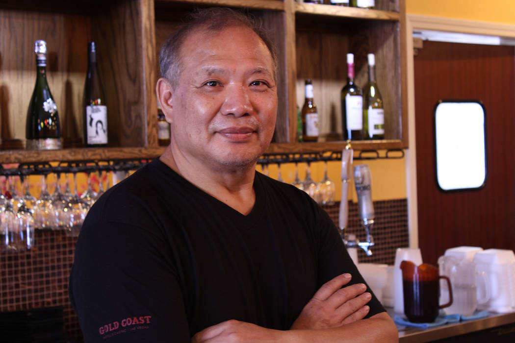 Jeffrey Meehan/ Pahrump Valley Times Peter Hung, chef and new owner of the Thai Coconut Bay restaurant at 270 Dahlia St., Suite 1, stands for a photo on July 14, 2017.