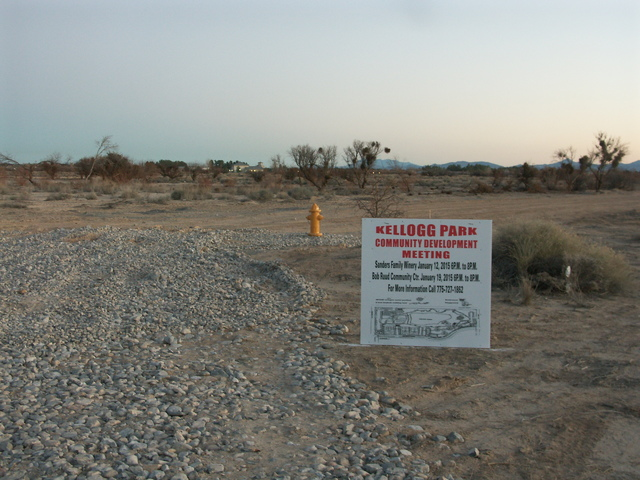 Selwyn Harris/Pahrump Valley Times file photo Kellogg Park as shown in a 2015 photo. Federal funding of $211,519 grant from the National Park Service is for phase 1 development of the park.