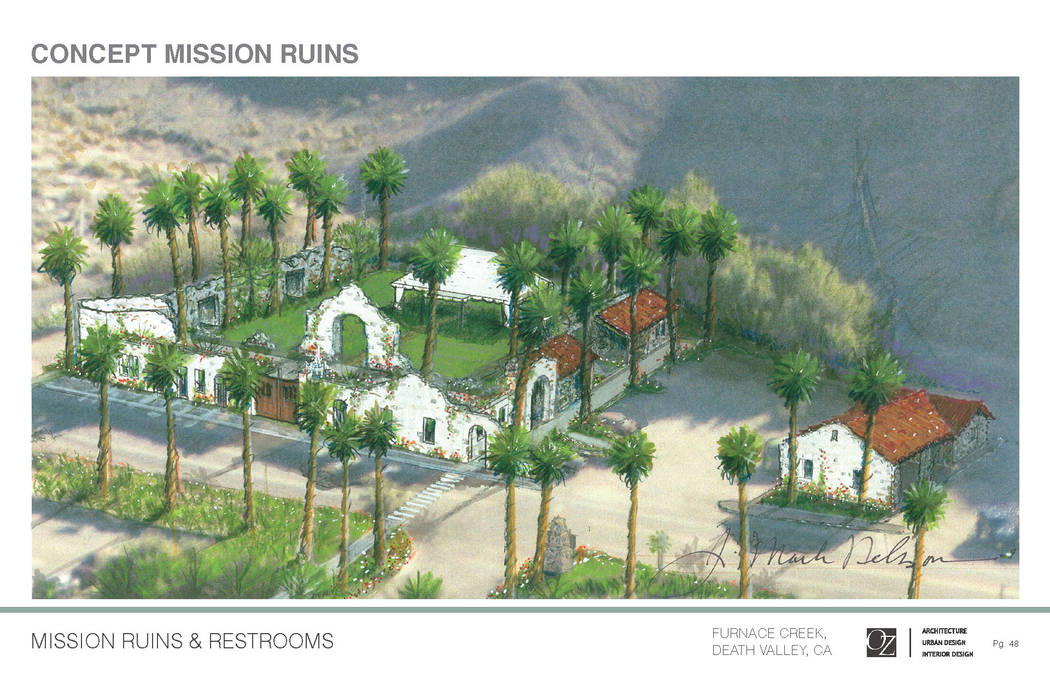 The Oasis at Death Valley  Rendering of the outdoor events area for The Inn at Death Valley (formerly The Inn at Furnace Creek). The resort if scheduled to open in November.