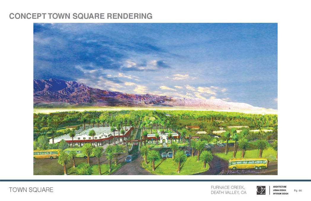 The Oasis at Death Valley  Rendering of renovation of The Ranch at Death Valley (formerly The Ranch at Furnace Creek), a resort and retail development near Death Valley National Park Visitor's Cen ...
