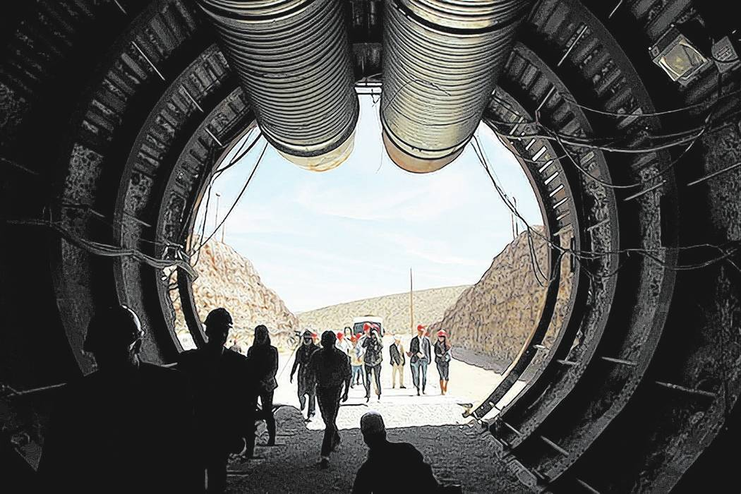Sam Morris/Las Vegas Review-Journal Three members of the Nevada congressional delegation are pushing to eliminate funding for the Yucca Mountain proposed nuclear waste repository from the House ap ...