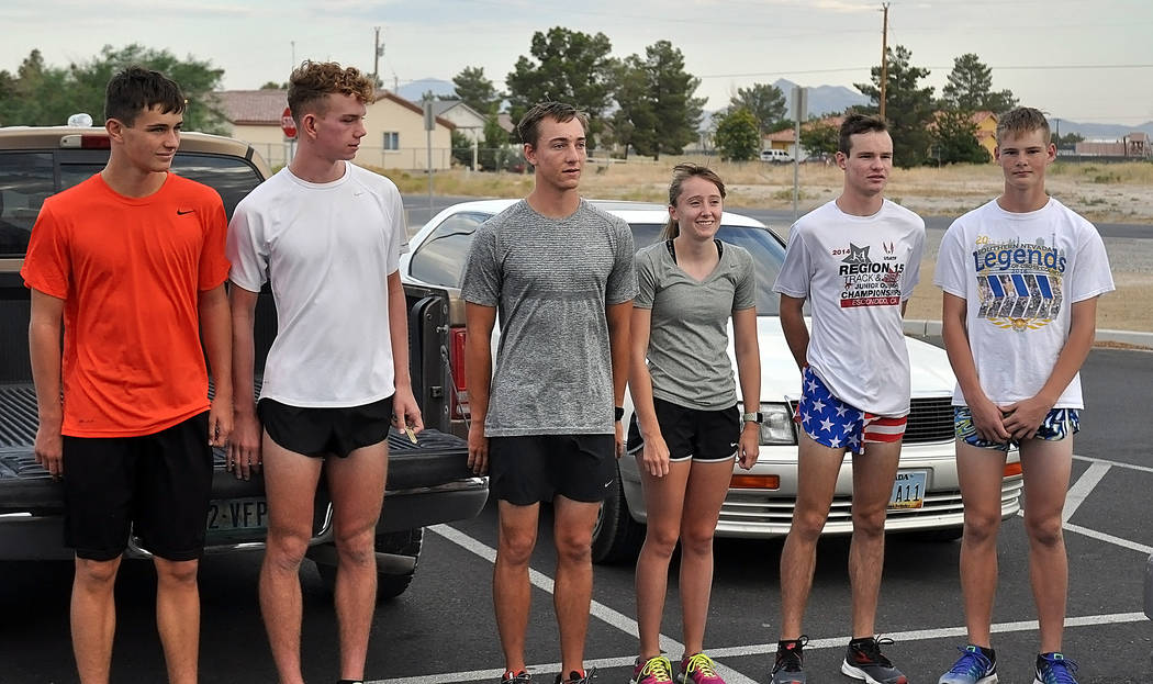 Horace Langford Jr./Pahrump Valley Times  This year's cross-country team will have a lot of siblings running. From left to right: Michael Sonerholm, Layron Sonerholm, Cole Goodman, Katherine Goodm ...