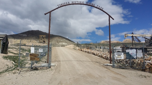 A look at the Tonopah Historic Mining Park in an April 30 photo. The town is creating a program that encourages people to walk in the park. The Town Board approved the effort at its April 27 meeti ...