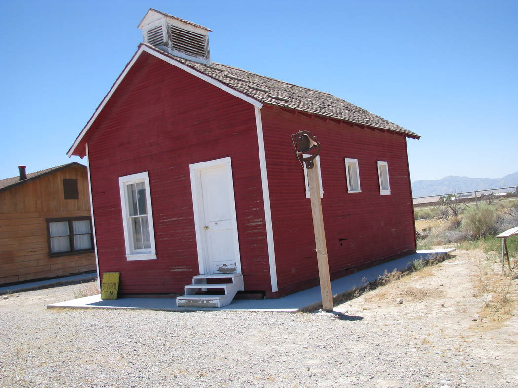 Pahrump Valley Museum/Courtesy photo A one-room schoolhouse is shown in Pahrump. The Nye County Town History Project was begun in 1987.
