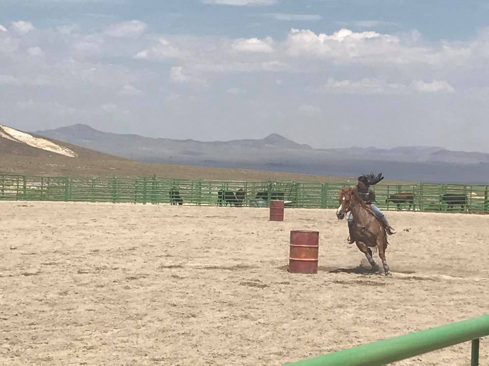Kat Galli/Town of Tonopah Barrel racing was part of the rodeo entertainment during the main event times on July 15-16.