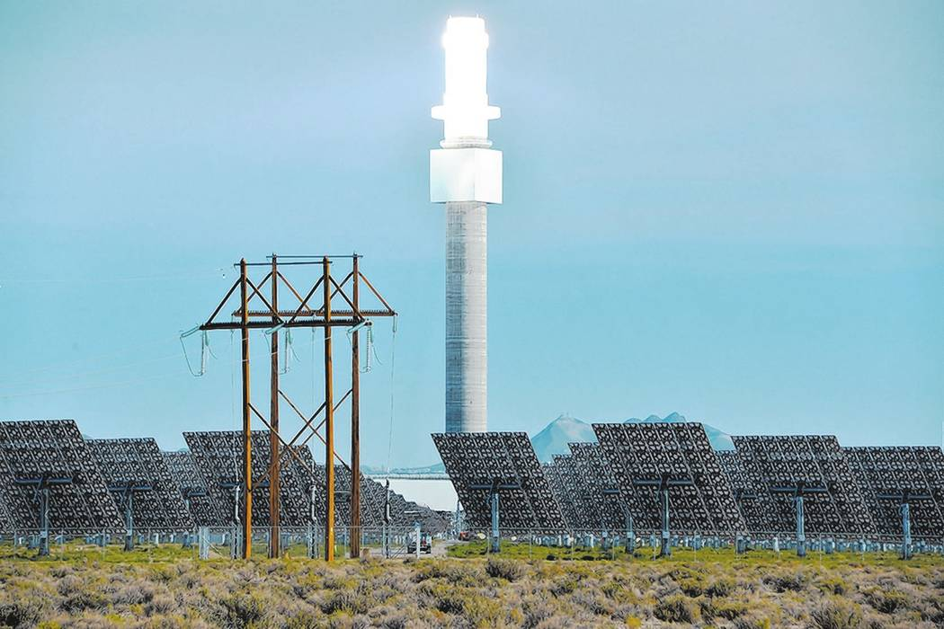 Special to the Pahrump Valley Times The Crescent Dunes Solar Energy Project 15 miles northwest of Tonopah is fully online and generating electricity after a breakdown last fall caused more than an ...