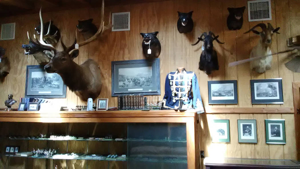 Selwyn Harris/Pahrump Valley Times  Numerous game trophy mounts, works of art, firearms and German WWII memorabilia is up for auction next month at the Pahrump Nugget, courtesy of officials with C ...