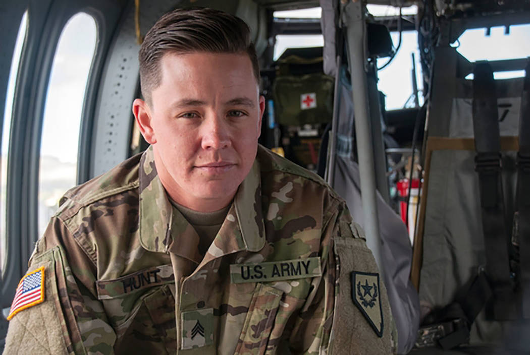 Photo by Tech. Sgt. Emerson Marcus/Nevada National Guard Sgt. Sam Hunt of the Nevada Army Guard's G Company, 2/238th General Support Aviation Battalion, is the first openly transgender soldier i ...