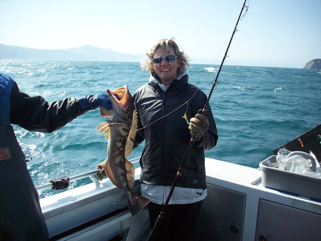 "Dan Simmons  Laura Oslund, once an administrator for the Nye County Communities Coalition, goes on her first ocean fishing adventure in Point Loma, California. ""At the end of the trip my friend (O ..."