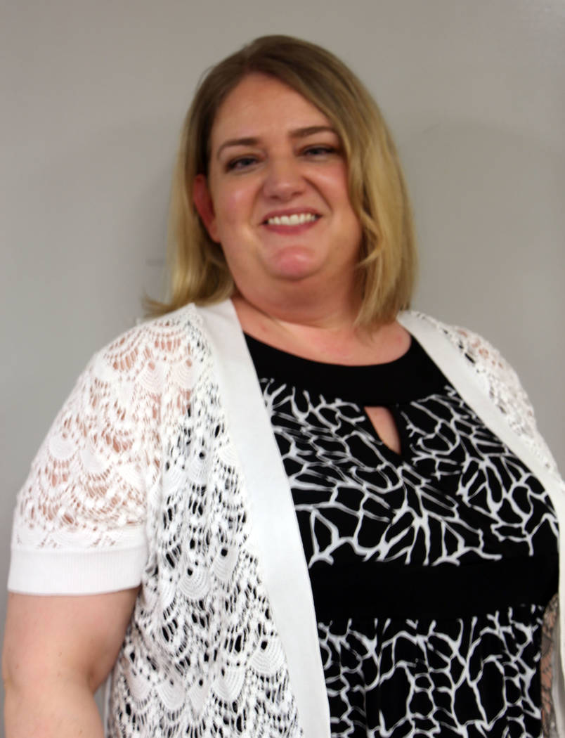 Jeffrey Meehan/Pahrump Valley Times  Jennifer Ehrheart, new principal at the Pahrump Valley High School, is gearing up for the new school year. Ehrheart is coming in from Anchorage.