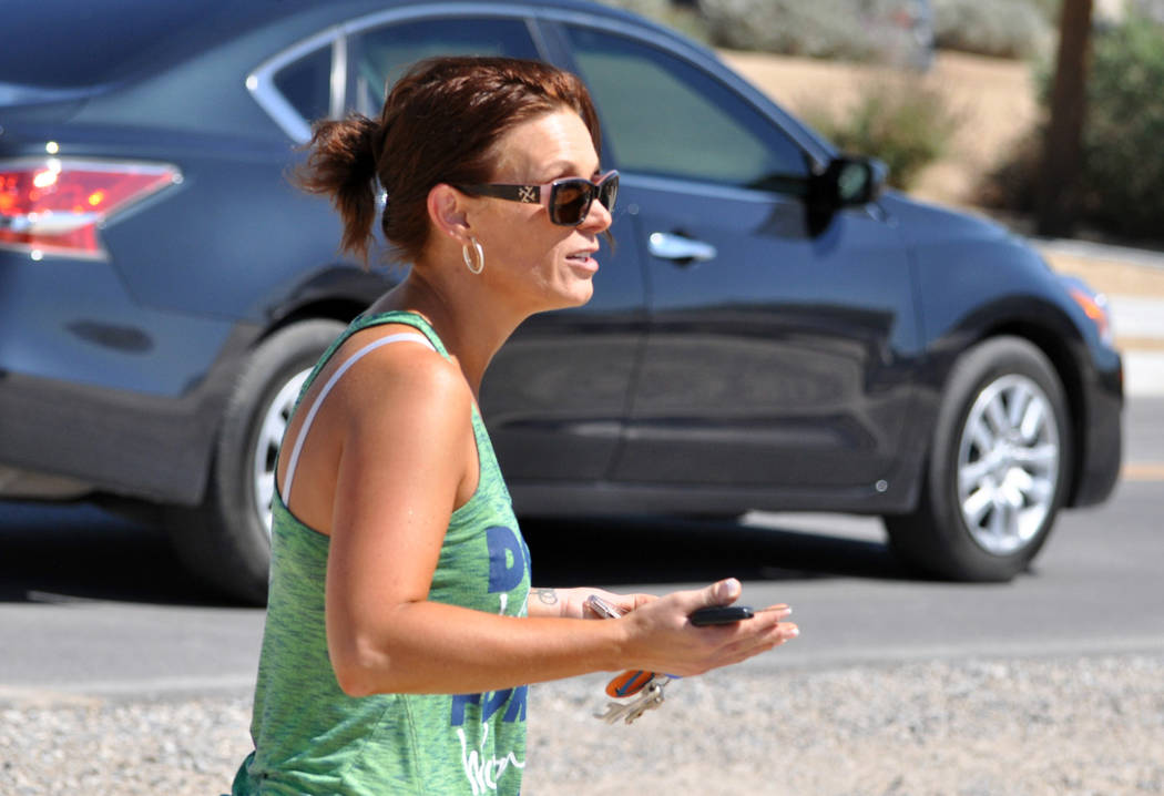 """Horace Langford Jr./Pahrump Valley Times -  Manse Elementary School parent,Tricia Mcguire,  said she had no problem with the field being next to the school.   """"I honestly didn't know about it  ..."""