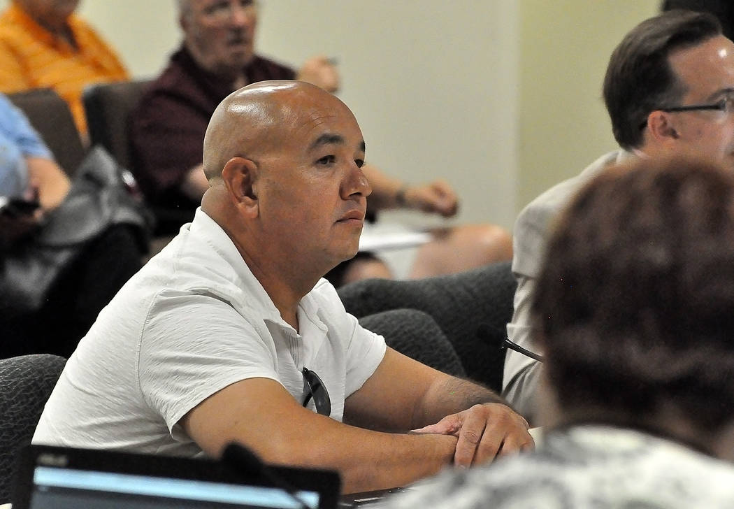 Horace Langford Jr./Pahrump Valley Times Rene Morales, owner of the Morales Construction in Pahrump is asking the court to void the county's recent changes to its rules related to solid waste hand ...