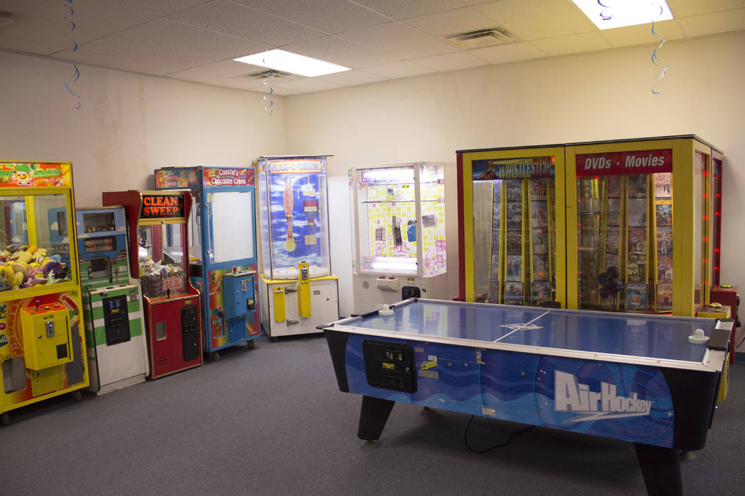 Jeffrey Meehan/Pahrump Valley Times Prize Zone Arcade at 1330 S. Highway 160 opened July 26, 2017. The space has machines ranging from one or more tokens that pay out in instant prize redemption,  ...