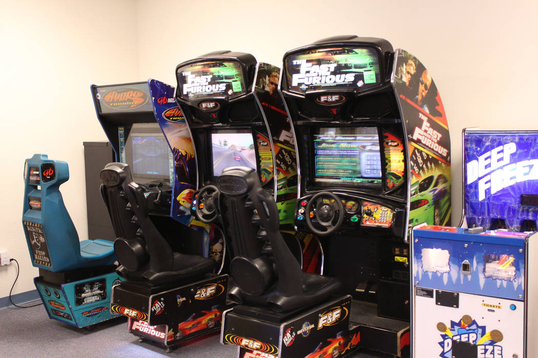 Jeffrey Meehan/Pahrump Valley Times The Prize Zone Arcade contains arcade-style gaming machines such as Fast and Furious, along with ticket-based machines. Tickets can be redeemed for prizes.