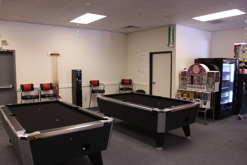 Jeffrey Meehan/Pahrump Valley Times The Prize Zone Arcade at 1330 S Highway 160 offers two new pool tables available for play. There is a free eight-ball tournament for kids 17 and under every Sat ...