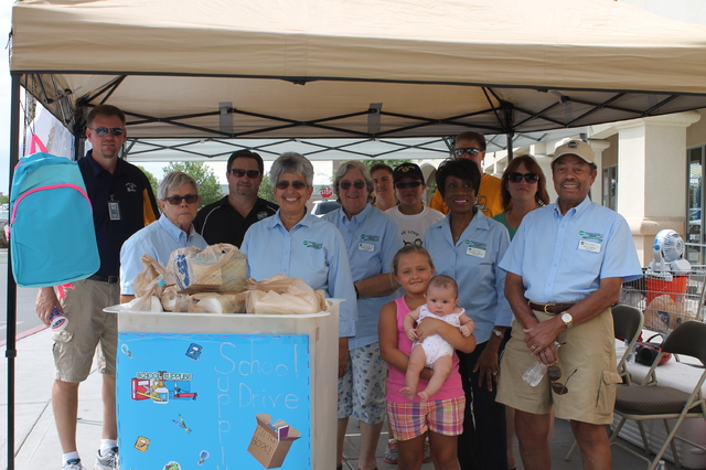 Valley Electric Association/file photo A 2015 file photo shows Valley Electric Association Inc.'s annual Fill the Bucket Truck school supply donation drive in Pahrump. This year's drive runs from  ...
