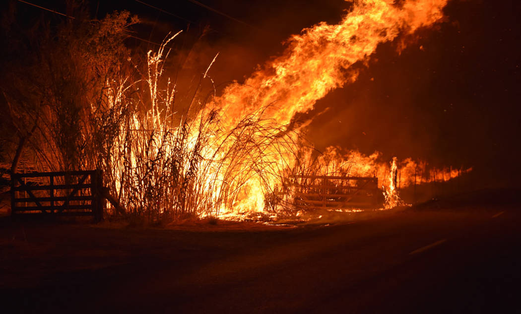 Bamboo grove fire challenge Pahrump area first responders