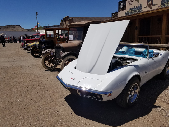 David Jacobs/Times-Bonanza & Goldfield News  A look at vehicles in the Goldfield Days' car show on Aug. 6, 2016.  The show featured a variety of vehicles,  including the Ford Model T, pickup t ...