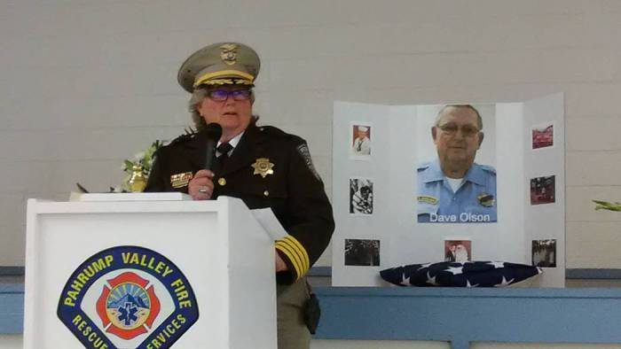 Nye County Sheriff's Office holds memorial for late