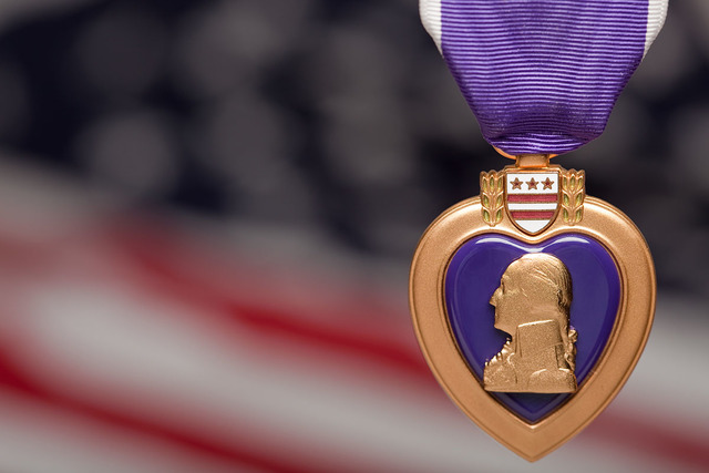 Thinkstock A Purple Heart is displayed. County commissioners recently issued a proclamation recognizing Aug. 7 as Purple Heart Day in Nye County. A Purple Heart Day ceremony is planned for at 7 p. ...