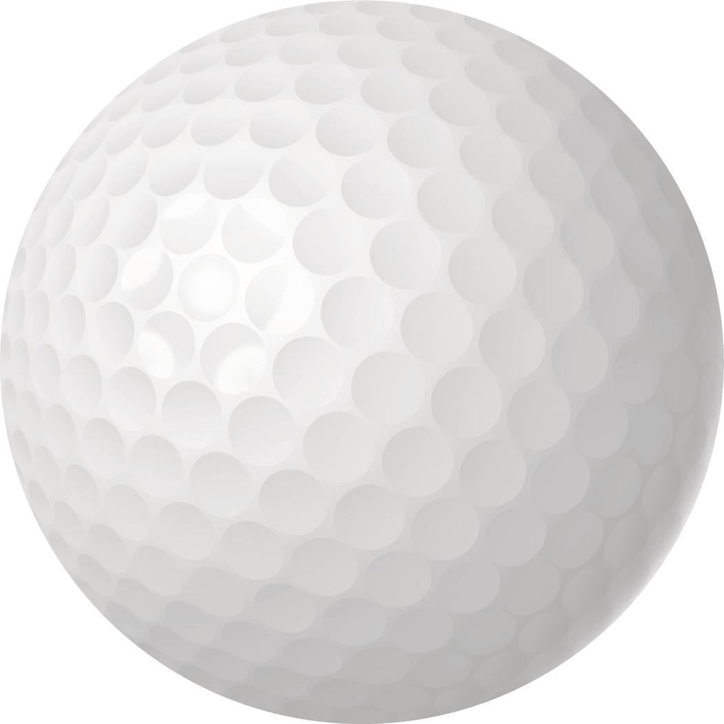 Golf ball over white isolated vector illustration. EPS10 opacity