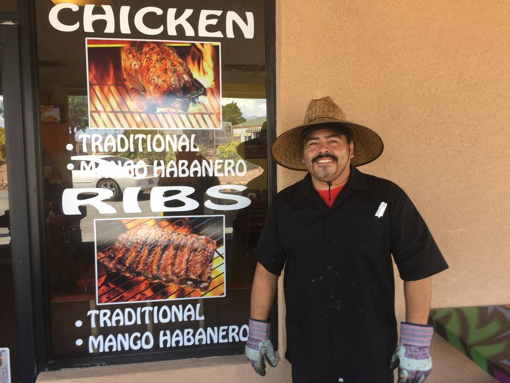 Jeffrey Meehan/Pahrump Valley Times Gonzalo Contreras, owner of the El Pollo Ranchero Mexican grill, stands for a photo on July 29, 2017. The new restaurant, at 1330 S. Highway 160, suite 1, offic ...