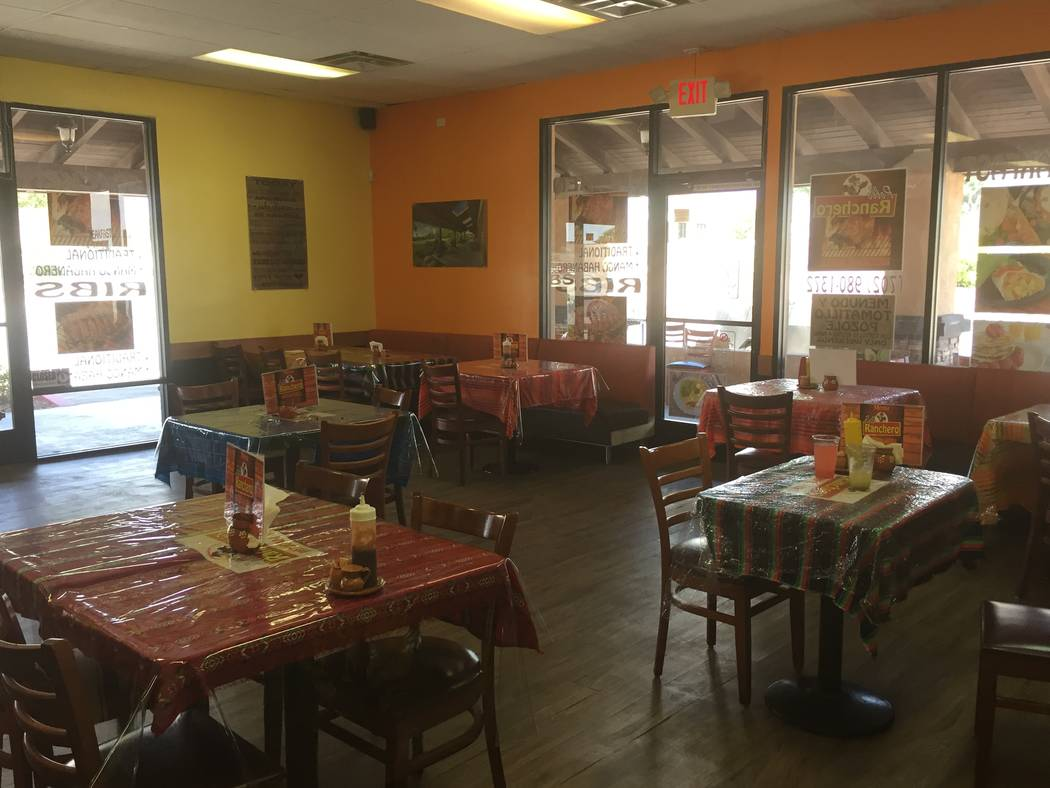 Jeffrey Meehan/Pahrump Valley TImes El Pollo Ranchero Mexican grill at 1330 S. Highway 160 officially opened on Aug. 1. The location has more than 8 tables for diners to eat at.