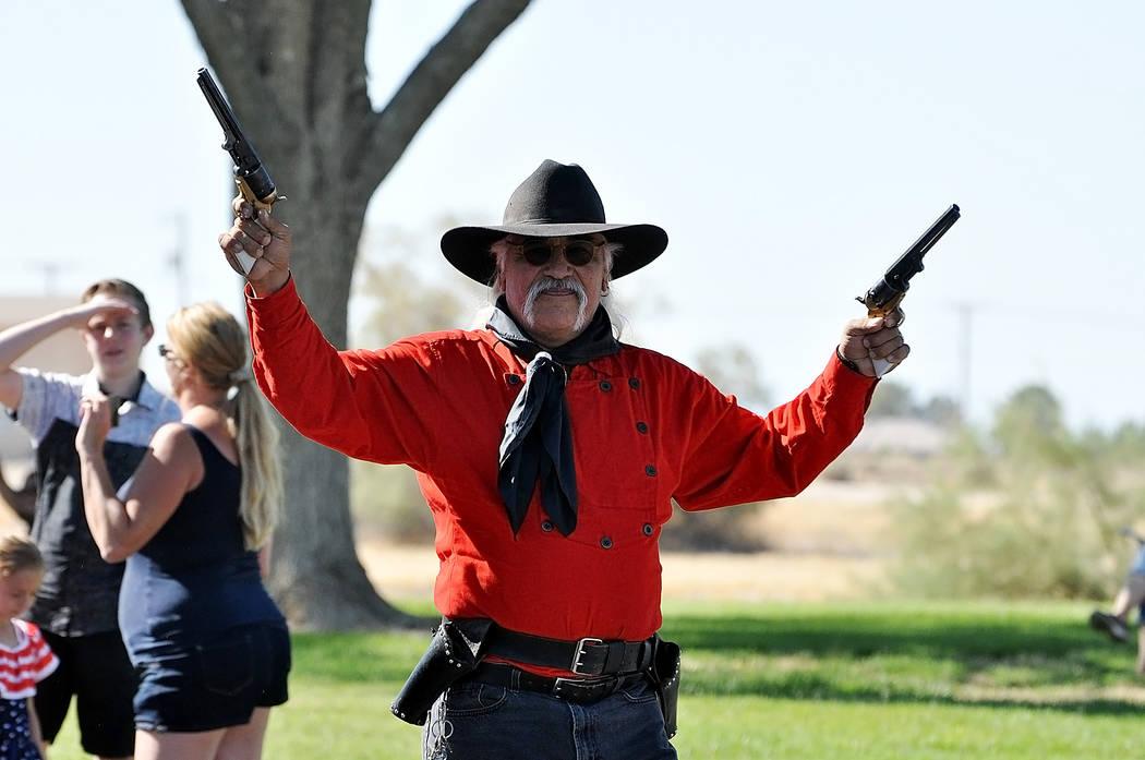 Horace Langford Jr./Pahrump Valley Times -  Dan Delgado of the Pahrump Gunfighters