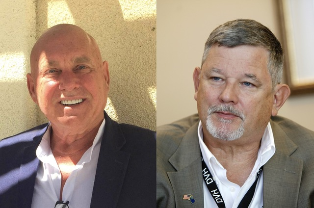 Pahrump Valley Times Brothel owner Dennis Hof (left) announced his second run for Nevada Assembly District 36, 10 months ahead of the primary election.