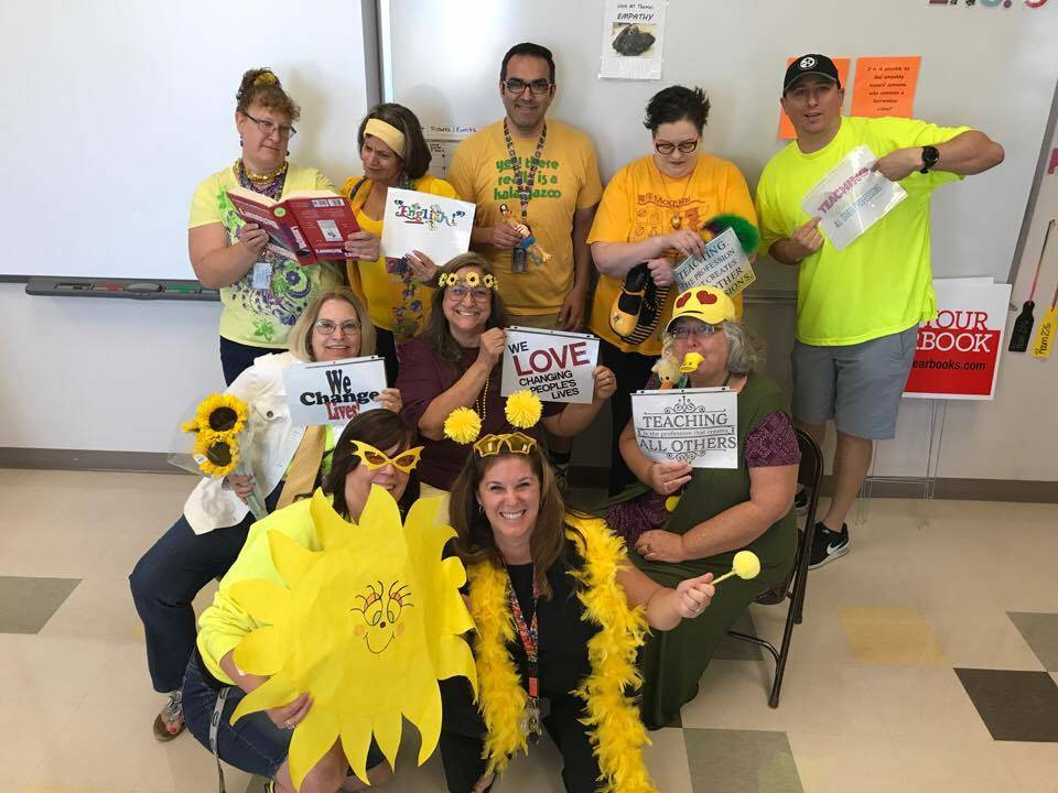 Jennifer Ehrheart, principal at Pahrump Valley High School Teachers come together on new themes that they want to improve on during in service meetings. Those themes include prepared, collaborativ ...