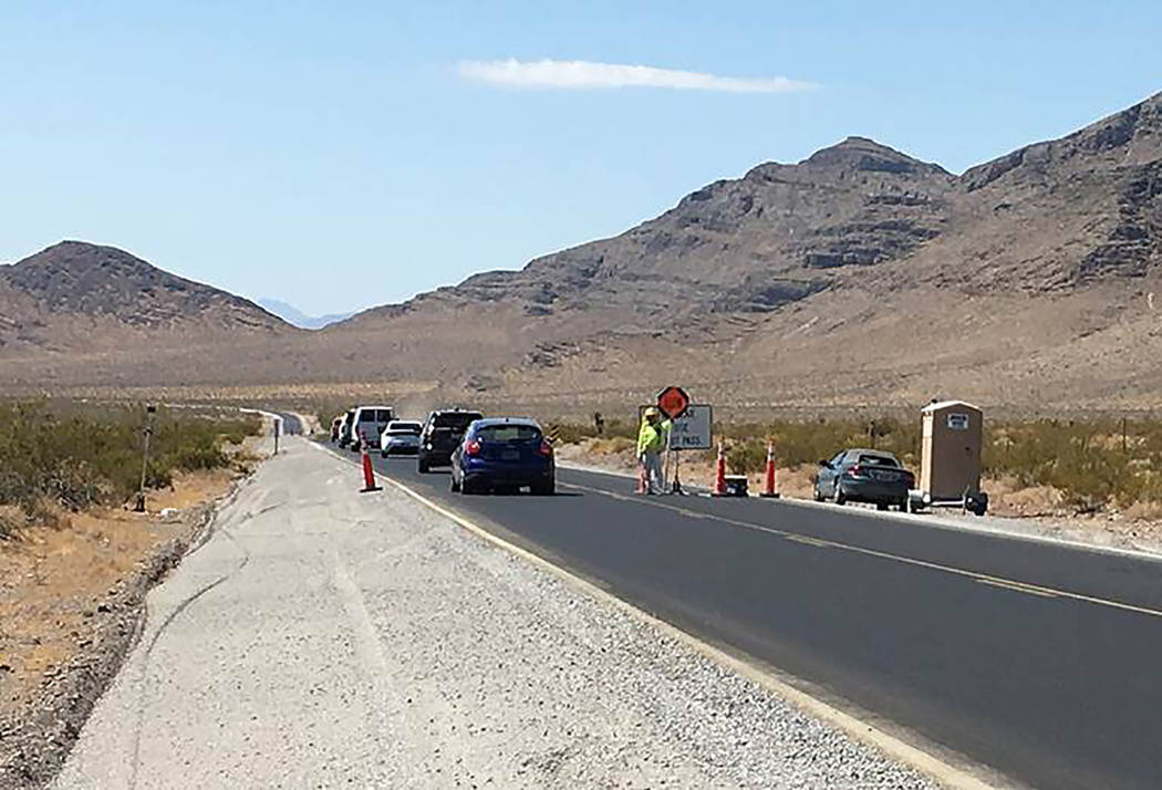 Nevada Department of Transportation Traffic restrictions are required as part of $8.7 million of improvements to a 14-mile section of Nevada Highway 160 between East Basin Avenue to just north of  ...