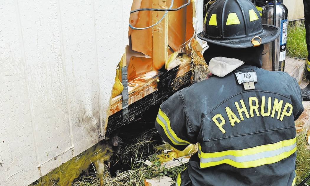 Special to the Pahrump Valley Times Pahrump fire crews were dispatched to the 6300 block of Vicki Ann Street for a structure fire on Tuesday August 1, just before 1 p.m. Crews investigated and fou ...