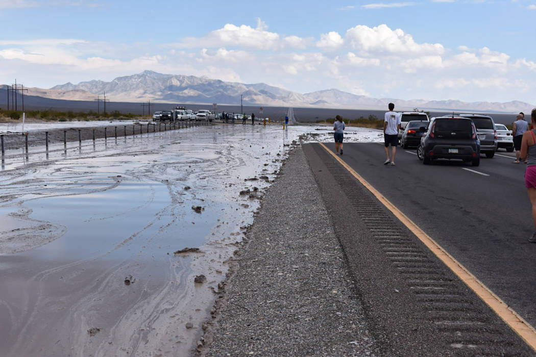 Special to the Pahrump Valley Times Last week's thunderstorms created challenges for area emergency crews and commuters along Highway 160 in both directions, as several areas of  the highway had ...