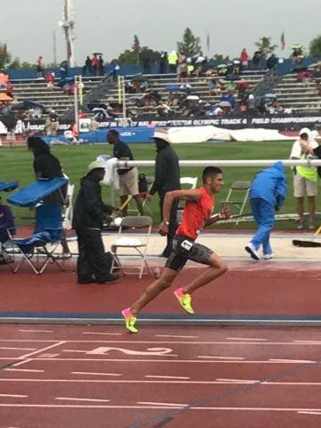 Special to the Pahrump Valley Times Jose Granados runs the 1,500 meter in the Junior Olympics in Lawrence Kansas in July. He finished in the top 14 in his division and was fourth in his heat out o ...
