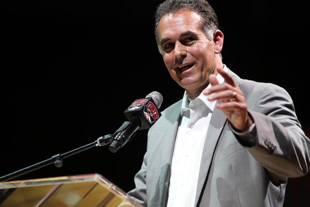 Erik Verduzco/Las Vegas Review-Journal Danny Tarkanian speaks in Las Vegas as shown in this 2016 file photo. Tarkanian seeks a seat in the U.S. Senate.