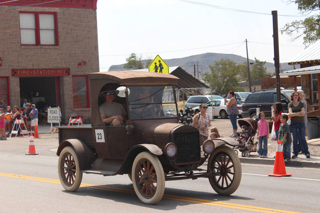 Jeffrey Meehan/Times-Bonanza & Goldfield News  Antique cars roll down U.S. Highway 95 in Goldfield for the Goldfield Days Parade on Aug. 5. The three-day event had live entertainment, various  ...
