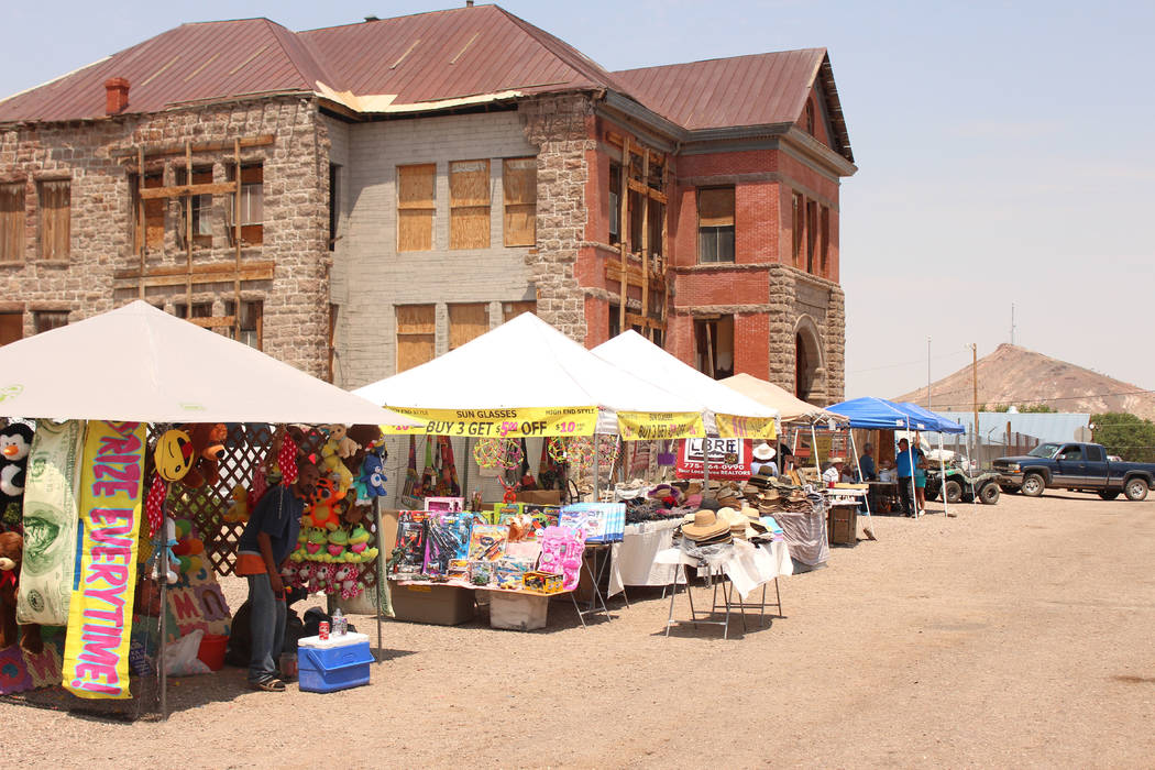 Jeffrey Meehan/Times-Bonanza & Goldfield News  Vendors lined up along U.S. Highway 95 and side streets in Goldfield. Goldfield was filled with live entertainment, food and fun from Aug. 4-6 fo ...