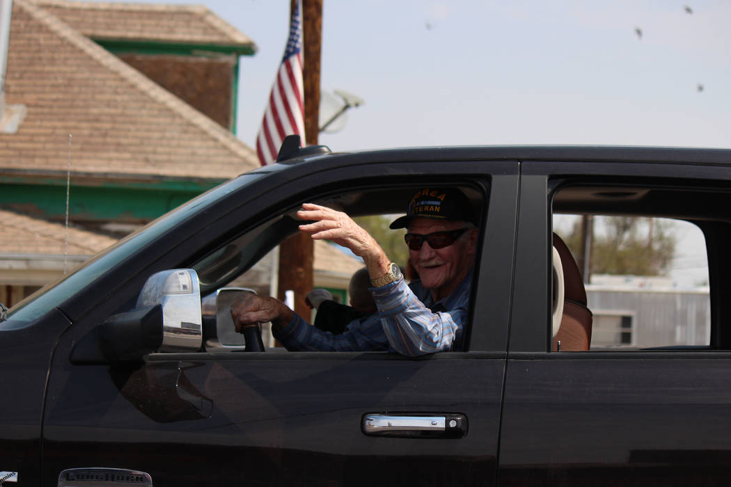 Jeffrey Meehan/Times-Bonanza & Goldfield News  Red Roberts, owner of the Goldfield Hotel, was the grand marshal for the Goldfield Days' parade. The annual event went on for three days, from Au ...